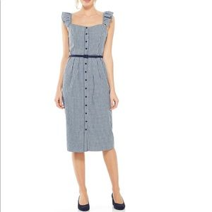 Gal Meets Glam Carly Gingham Sheath Dress